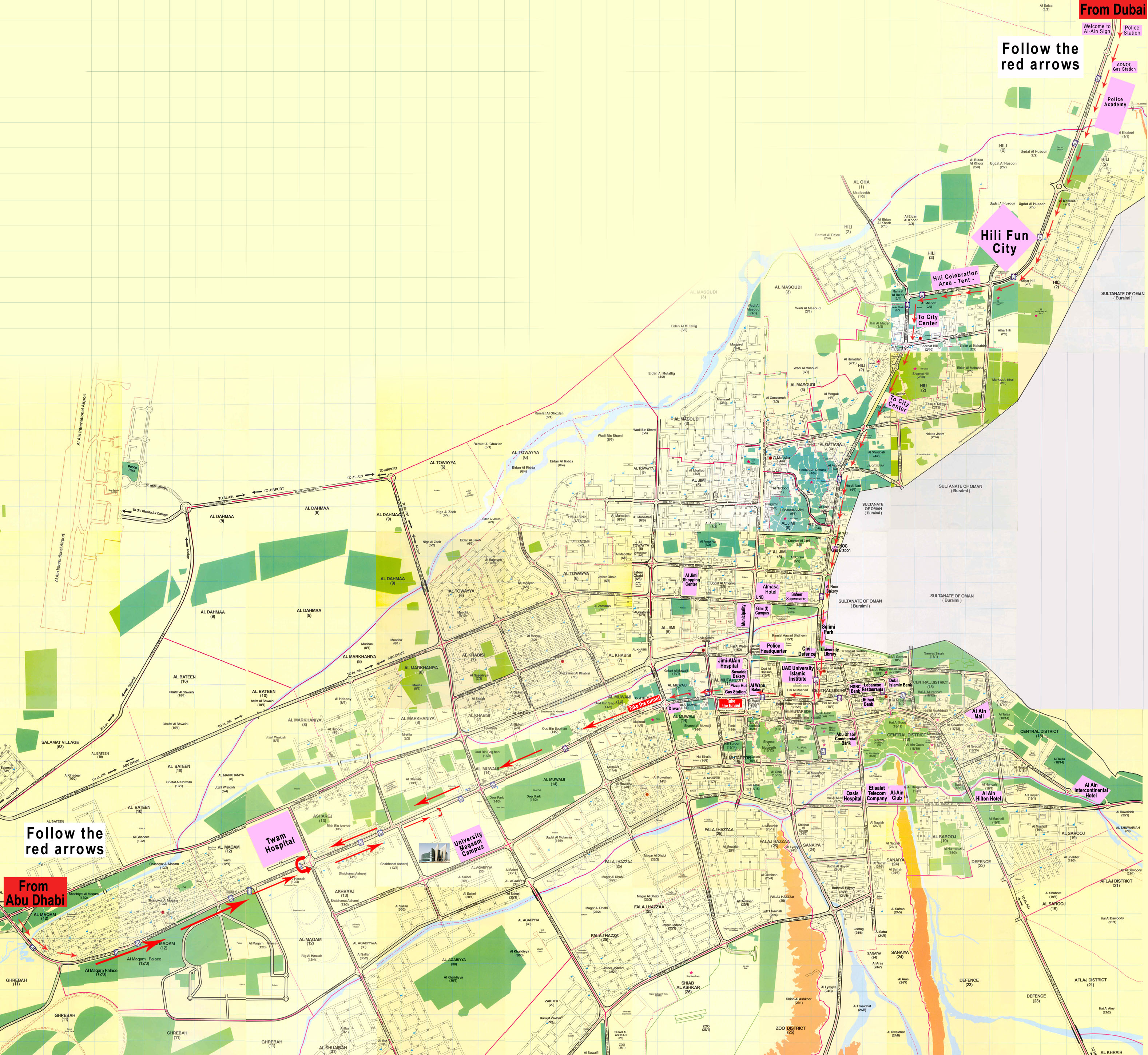 MapDubai To Alain CITjpg - Al ain map